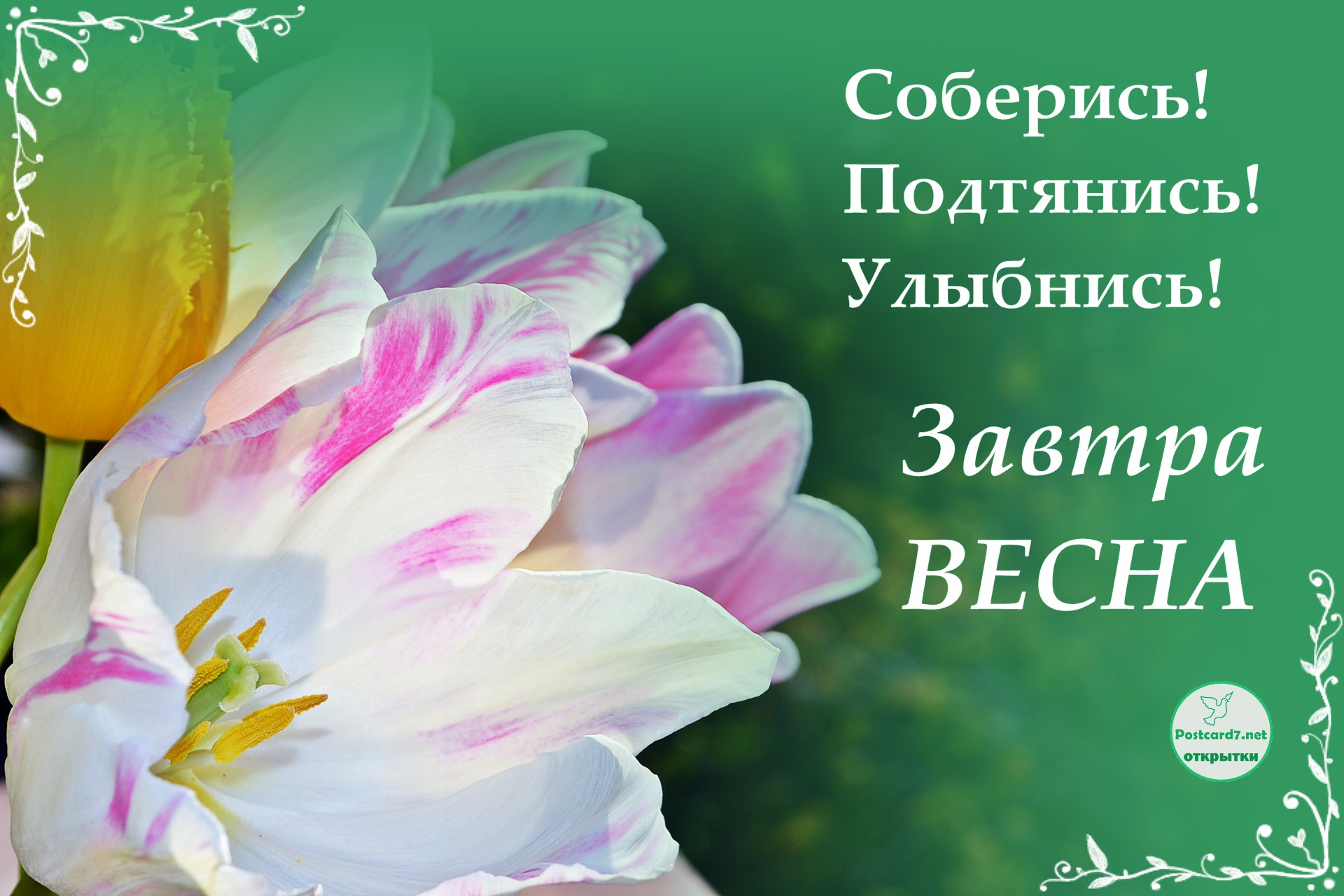 Завтра весна, открытка