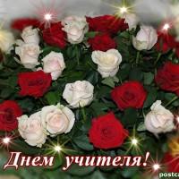 С Днем учителя, розы