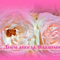 С Днём ангела, Владимир; открытка с розами
