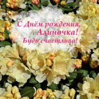 С Днём рождения, Алиночка, открытка, рододендрон
