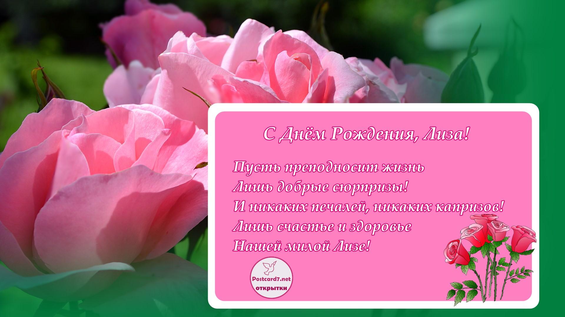 Поздравление елизавете с днём рождения в стихах 50