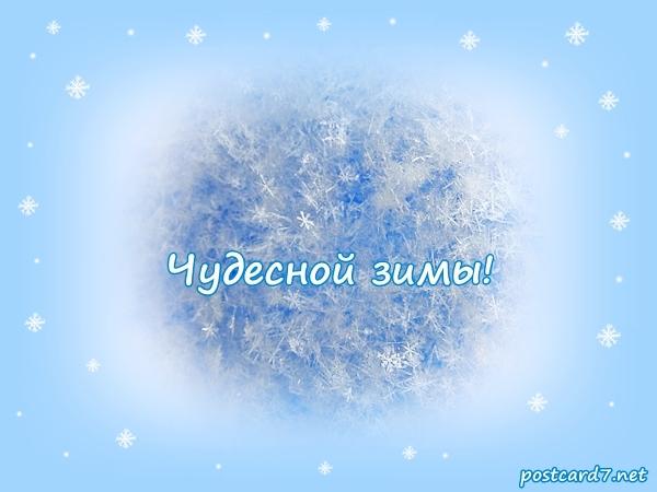 Чудесной зимы, открытка