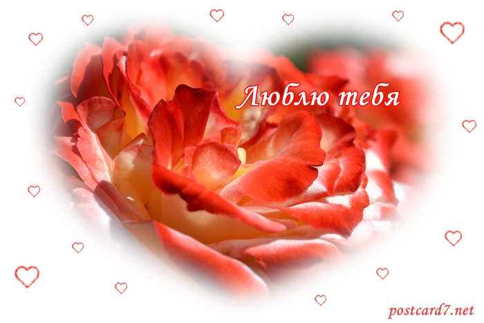 Люблю тебя, открытка
